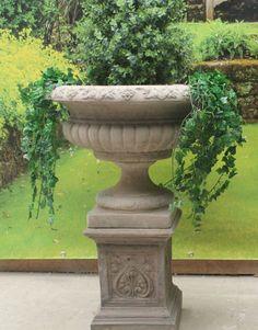 DIY Large Concrete Urn Planters   Google Search