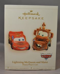 Hallmark Disney Cars Decoupage Figural Ornament - Lightning ...