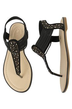 Pia Rossini Summer Beach Sandals Cosmo Pair Black