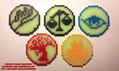 Divergent Faction Logos with Glow in the Dark beads! - An UnleashtheGeek custom design!