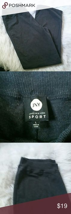JONES NY SPORT- NWOT- LOUNGE PANTS New, never worn Bought n just never used Heather gray  Straight leg Sweats or can wear with a cute top.  There not just lounge pants... Jones New York Pants