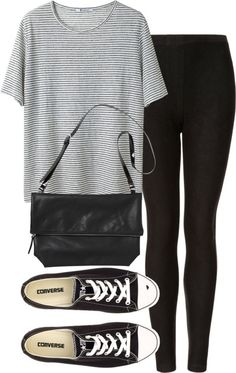 35 Trendy How To Wear Black Converse Outfits White Chucks Black Converse Outfits, White Chucks, Casual Outfits, Cute Outfits, Fashion Outfits, Womens Fashion, Fashion Trends, Looks Style, Style Me
