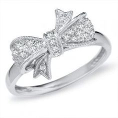 Diamond bow ring<3