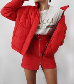 COAT GOALS Alicia Roddy kills it in our red bomber coat #styleinspo