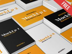Business Card v2 – 3 Free PSD Mockups by Mockupfree