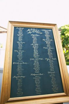 love this seating chart, different frame though!