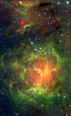 The #TriffidNebula, also known as #Messier20, is easy to find with a small telescope, a well known stop in the nebula rich constellation #Sagittarius. Astronomers have used the Spitzer infrared image data to count newborn and embryonic stars which otherwise can lie hidden in the natal dust and gas clouds of this intriguing stellar nursery. As seen here, the Trifid is about 30 light-years across and lies only 5,500 light-years away.