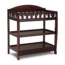 Delta Espresso Cherry Changing Table with Pad