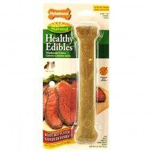 "Nylabone Healthy Edibles Roast Beef Giant 8"" Bone - Dog Supplies"