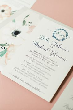 Custom Fl Wedding Suite For Helia Mike Bar Mitzvah Invitations