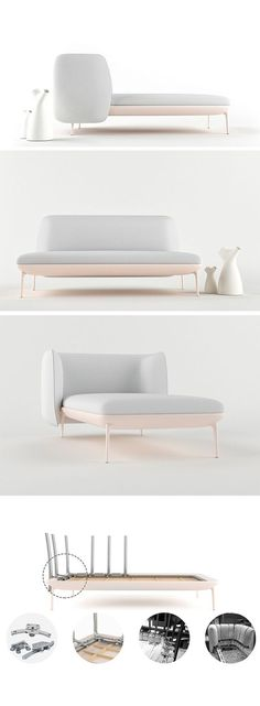Get ready to be OBSESSED with the Beatle! Its versatile construction makes it possible to easily switch things up depending on both your spatial and comfort needs. The flexible back can slide all the way around on a built-in rail system, instantly transforming it from sofa to lounge.