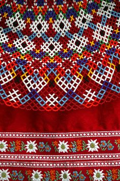 The traditional dress of Greenland, is a mix of ancient skin garment, european glass beads and silky needlework. An amazing example of inuit handicraft. Textile Patterns, Textiles, Beaded Collar, Color Shapes, Beading Projects, Folk Costume, Beaded Embroidery, Folk Embroidery, Traditional Dresses