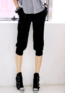 Ladies Baggy Pants @ $29 SGD only! (Available in: Black, Beige, Dark Grey)