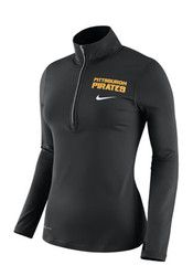 Nike Pitt Pirates Womens Element Black 1/4 Zip Performance Pullover