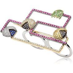 FEDERICO PRIMICERI Level 256 Collection Ring - Diamond/Multi