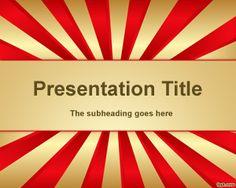 Plantilla PowerPoint Fabulosa con efecto de circo