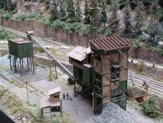 """Layout """"Steilstrecke"""", 1/87 scale H0 (NEM standard). Made by Model Railway Group """"Modelspoor Collectief"""" in the Netherlands. Design and structures made by Jacques Damen."""
