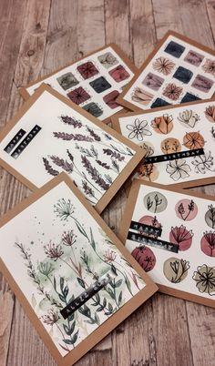 Creative Crafts, Diy And Crafts, Karten Diy, Bday Cards, Card Making Inspiration, Watercolor Cards, Paper Cards, Diy Art, Envelopes