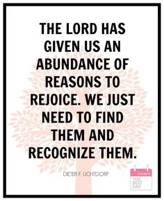 RECOGNIZE BLESSINGS