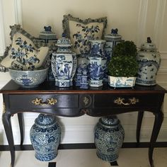 """#blueandwhite #theenchantedhomeshop #theenchantedhome and these are a few of my favorite things:) all new arrivals from my shop!"""