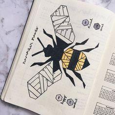 Bullet journal mood tracker bee theme #Regram via @bujobalance