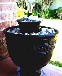 Diy Garden Fountains, Water Features, Flower Pots, Outdoor Decor, Balcony, Water Sources, Flower Vases, Plant Pots, Balconies