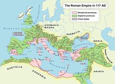After the founding of the Roman Empire, Rome experienced military successes that led to her ruling of a massive amount of territory. This map shows the Roman Empire at its largest, in 117 C. Roman History, European History, World History, American History, Ancient Rome, Ancient History, Ancient Greece, Ancient Aliens, Roman Empire Map