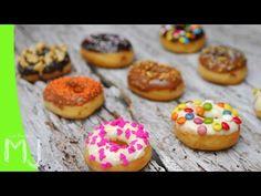DONUTS BAÑADOS DE CHOCOLATE   Cómo hacer donas caseras - YouTube