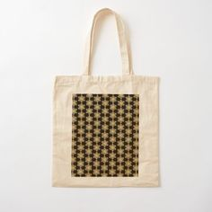 Golden Glitter Sparkle Snowflake 6 Branch Star Pattern by podartist Dazzling sparkling photo-effect fine gold glitter snowflakes with six crystal branches from a star Leopard Pattern, Gold Pattern, Pattern Design, Star Patterns, Flower Patterns, Geometric Patterns, Custom Tote Bags, Japanese Patterns, Printed Tote Bags