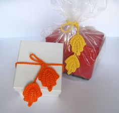 Crochet Pattern Wrappping Ribbons Gift Idea Ties Seasonal