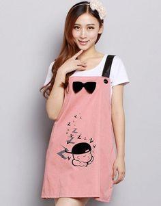 Radiation-free Dress Colour: Pink/Black Ribbon with print