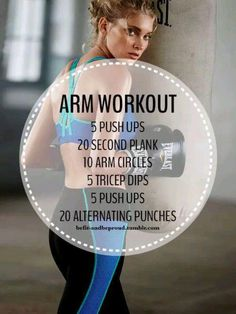 Great arm workout with little to no equipment needed! #arms #workout #fitness