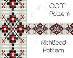Beaded loom pattern, PDF seed bead bracelet, DIY beading, Instant download, Bookmark geometric pattern, Digital square stitch jewelry ++++++++++++++PDF Instant Digital Download ++++++++++++ This is a pattern for a bracelet, not the real bracelet. I use Miyuki Delica seed beads size