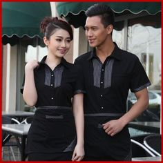 sơ mi đồng phục phục vụ - Tìm với Google Staff Uniforms, Uniform Shirts, Waiter Uniform, Housekeeping Uniform, Corporate Shirts, Hotel Uniform, Restaurant Uniforms, Brixton, Poses