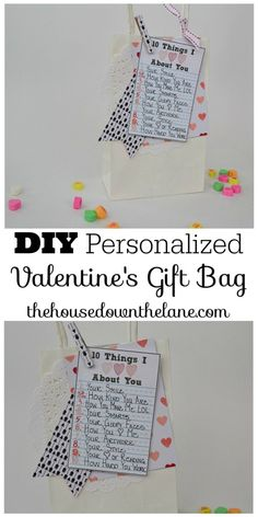 DIY Personalized Valentine's Gift Bags perfect to share wiht the ones you love.