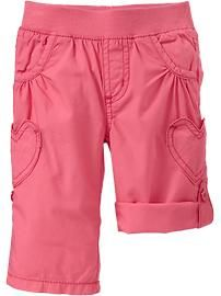 Heart-Pocket Roll-Up Pants for Baby