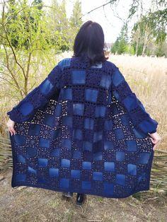 Crochet Pullover Pattern, Crochet Bedspread Pattern, Crochet Basket Pattern, Crochet Motifs, Crochet Squares, Baby Knitting Patterns, Crochet Patterns, Crochet Carpet, Crochet Coat