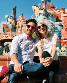 Amyplier   Mark and Amy at Disney   Markiplier and Peebles
