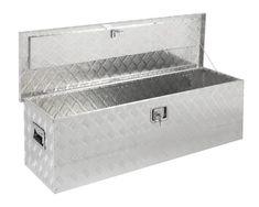 Yaheetech 24 L Aluminum Truck Trailer Pickup Tool Box Flatbed Storage w//Lock