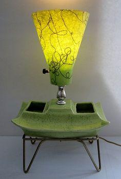 Mid Century green TV lamp