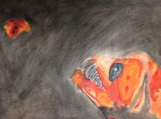 """""""The Monster"""" by Jackson McArthur from the Polly Ryan Middle School art program. #ArtColony #HouArtFest"""