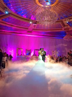 First dance on a CLOUD! #marieeweddings