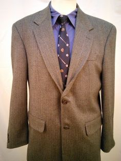 Meeting Street Men's Sports Coat 40R Lambswool Cashmere 2 Button Beige #MeetingStreet #TwoButton