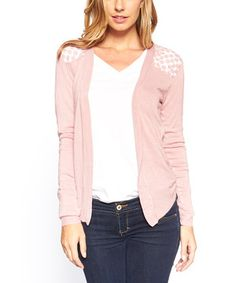 Love this Pink Hi-Low Open Cardigan - Women by Quest on #zulily! #zulilyfinds