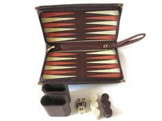 Vintage Travel Backgammon Game by PhotosPast--I used to love playing Backgammon!