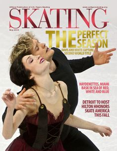 """Charlie and Meryl! After winning World Championships for time (FD set to """"Notre Dame de Paris""""), Davis & White appeared on covers of almost every magazine devoted to figure skating! Figure Skating Quotes, Us Figure Skating, Ice Skating, Usa Olympics, Winter Olympics, World Figure Skating Championships, World Championship, Meryl Davis, Dancing Figures"""
