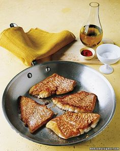 Sauteed Red Snapper from Martha Stewart- get the pan extra hot for crispy skin!