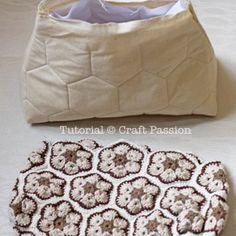 African Flower Crochet Purse – Part 2 lining and crochet purse