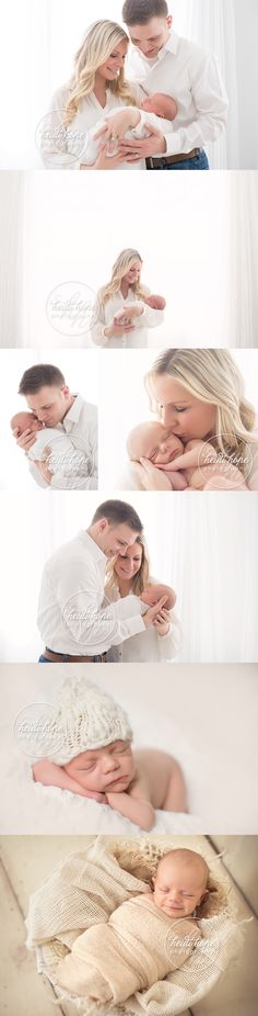 classic newborn baby boy and family session