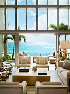 Gorgeous living room and gorgeous view